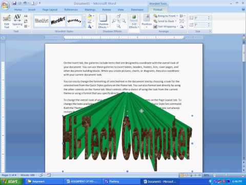 Microsoft Office Word 2007 Tutorial in Bengali (Part-7) Under Page layout (How to use custom page)