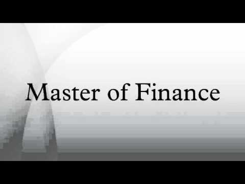 Master of Finance