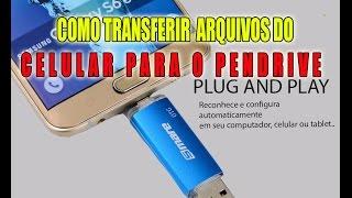 Como transferir arquivos do celular para um Pendrive 2 em 1