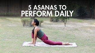 5 Yoga Asanas You Should Do Daily | Yoga | Fit Tak screenshot 1