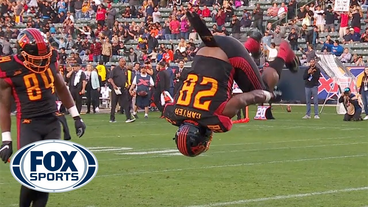 Martez Carter displays why he's 'Mr. Excitement' with 2 TDs and several backflips | XFL ON FOX