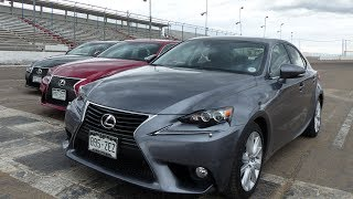The Ultimate Lexus IS Drag Race: 2014 Lexus IS350 vs IS250 vs F Sport AWD Mashup