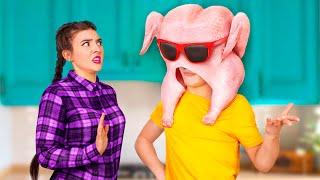 16 Sibling Prank Wars!  Funny Thanksgiving Pranks!