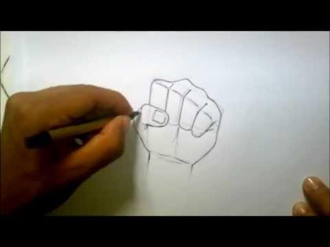 رسم اليد بطريقة مفصلة وسهلة How To Draw Hand By Aymen Elhaddad