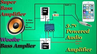 How to Make Amplifier Using 2822 I.C, Super Easy Diy Amplifier