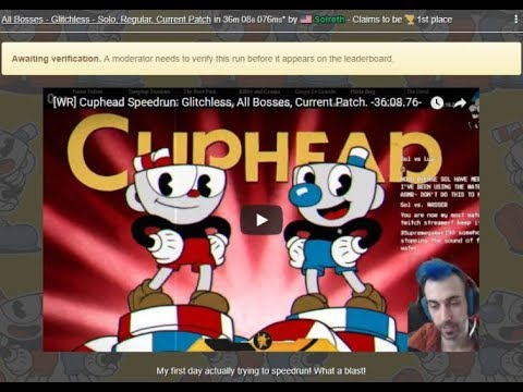 [WR] Cuphead Speedrun: Glitchless, All Bosses, Current Patch. -36:08.76-