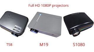 full HD 1080P projector S1080 M19 T58
