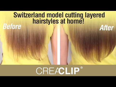 Switzerland Model Cutting Layered Hairstyles at Home