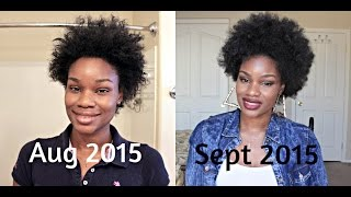 1 Month Hair Growth Update Using Vibrance Hair Vitamins