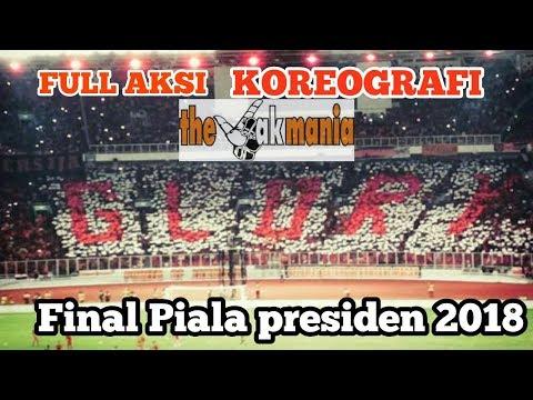 Koreo GLORY Jakmania Sebelum Kick Off Laga Final Pilpres 2018
