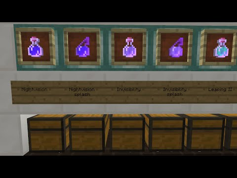 Minecraft tutorial: self refilling potion system