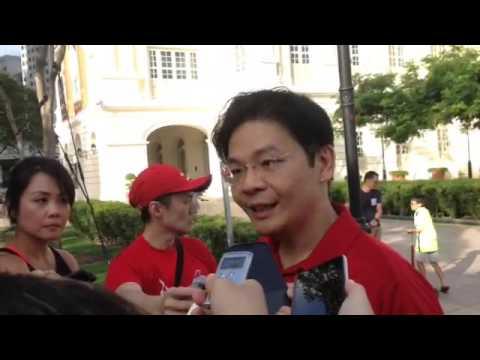 National Development Minister Lawrence Wong on Car-free Sunday