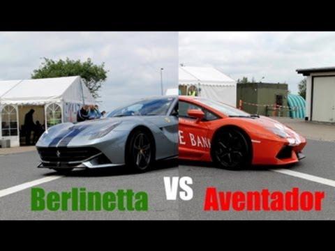 Ferrari F12 Berlinetta vs Lamborghini Aventador LP700-4 ...