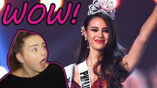 CATRIONA GRAY - MISS UNIVERSE WINNER - PHILIPPINES - REACTION!
