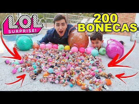 200 BONECAS LOL SURPRESA COLEÇÃO GIGANTE!!!