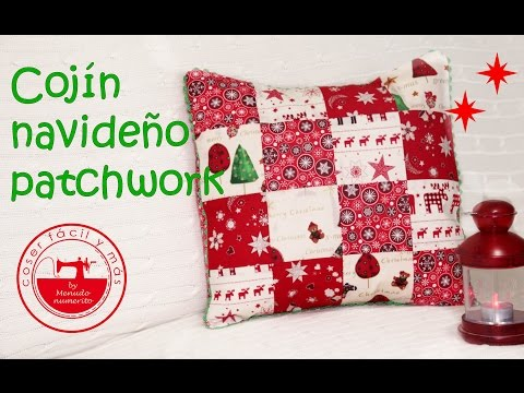 Patchwork para novatas: cojín navideño