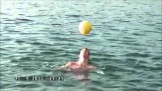 Guinness World Record for most head ball juggles while swimming