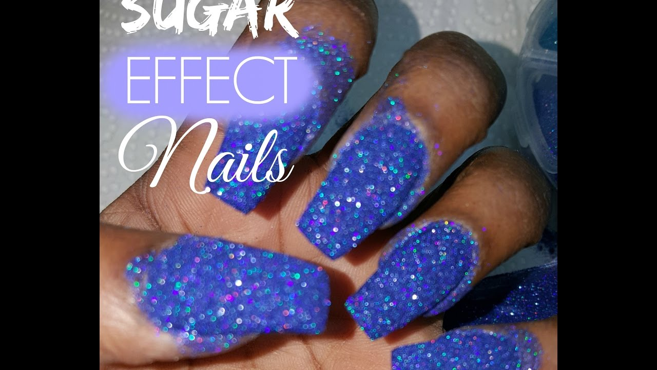 How To Sugar Effect Nails