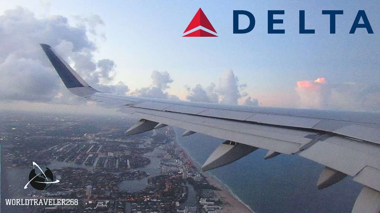 Delta Airlines A321 SUNSET Takeoff And Climb Fort Lauderdale Hollywood  International Airport by Worldtravler268