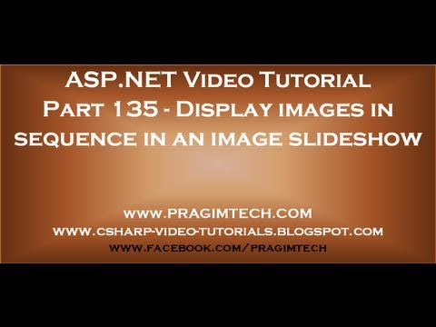 Display images in sequence in an image slideshow   Part 135