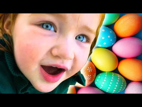 SURPRISE EGG HUNT and trampoline egg jump!!