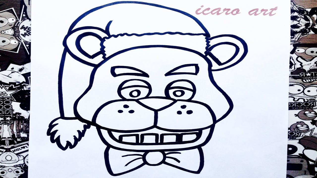 como dibujar a freddy navidad | how to draw freddy from ...