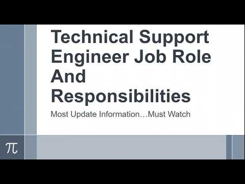 Senior technical support representative job description