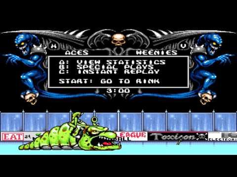 Mutant League Hockey Gameplay Sega Genesis/Mega Drive |