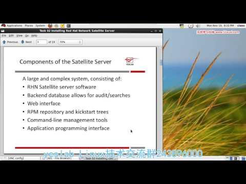 02 RHCA 401 12 Installing Red Hat Network Satellite Server