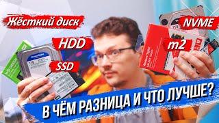 В чём разница и что лучше выбрать: жёсткий диск/HDD/SSD/m2 или NVMe?