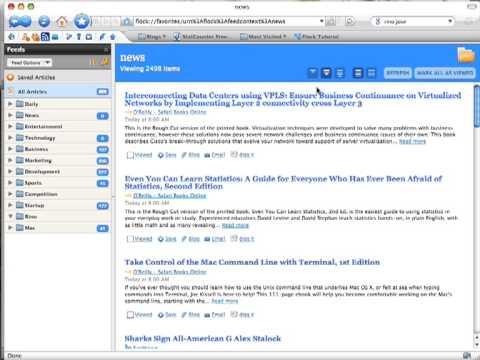 Quick UI comparison: NetNewsWire, Times, Flock