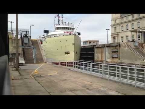 Great Lakes Freighter Alpena  Soo Locks