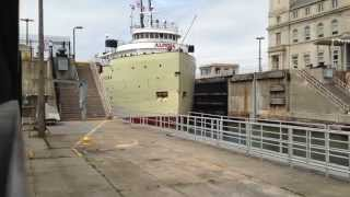Great Lakes Freighter Alpena  Soo Locks