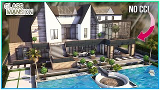Luxury Glass Mansion + Sunken Sitting Area 💚 [No CC] - Sims 4 Speed Build | Kate Emerald