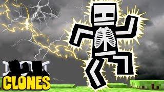 Minecraft Clones #3 - UM RAIO CAIU EM MIM !!