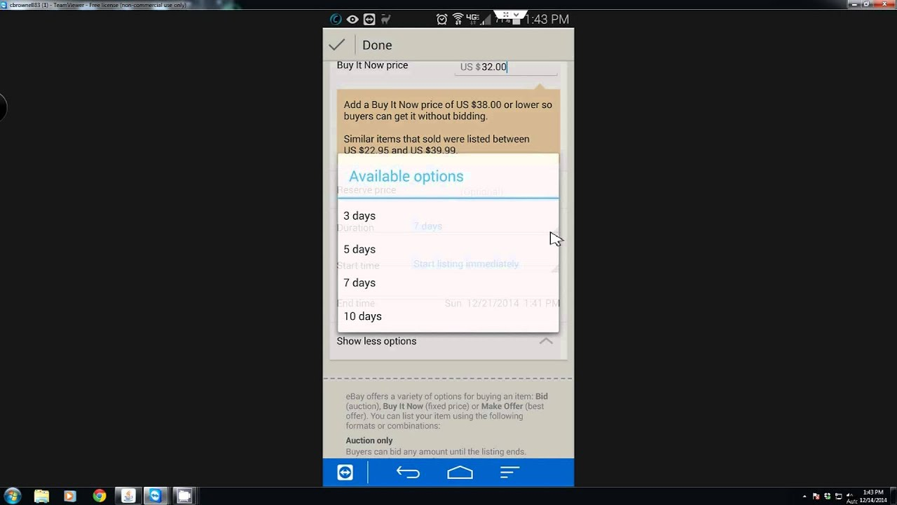 How To Use Your Android Device to List Items on Ebay