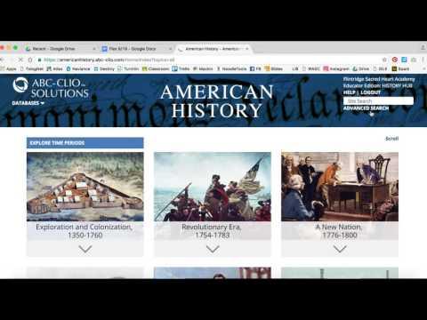 Using ABC-CLIO's American History database