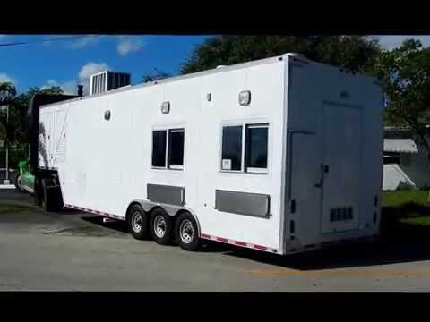 35' Custom Mobile Food Trailer -  Lauro Auctioneers & Restaurant Equipment - South Florida