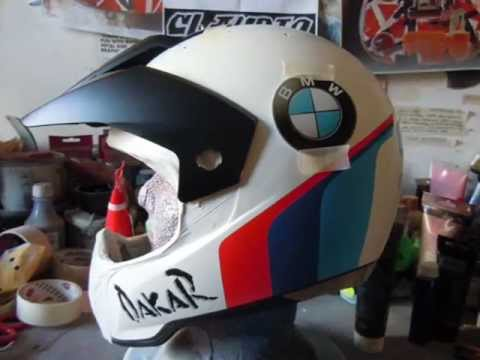 bmw dakar rally helmet step by step youtube. Black Bedroom Furniture Sets. Home Design Ideas