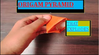 Origami Exploding Pyramid Tower