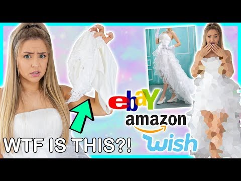 Trying On Cheap Wedding Dresses From Wish, Ebay, Amazon ! Success Or Disaster ?