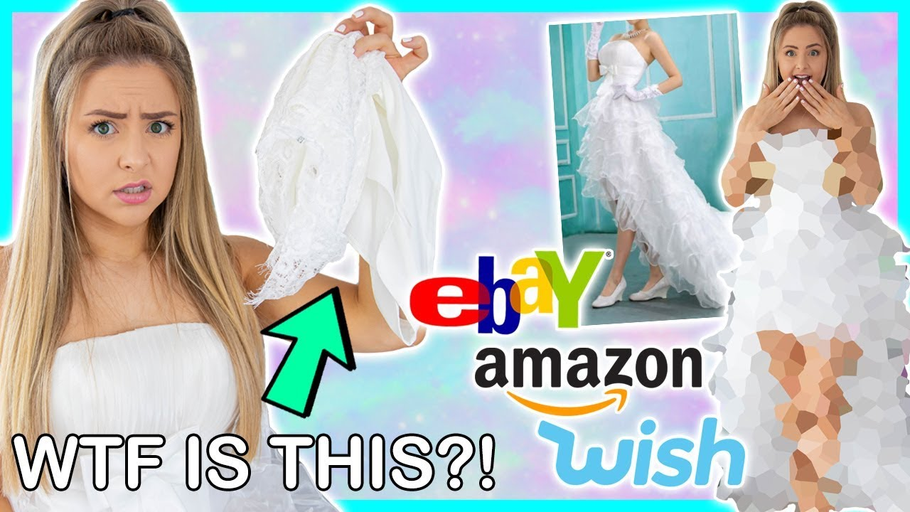 0768a92c2d0 Trying On Cheap Wedding Dresses From Wish