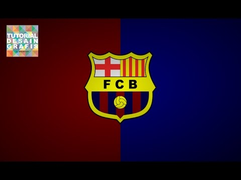 How to make Barcelona FC logo - Graphich Design Tutorial