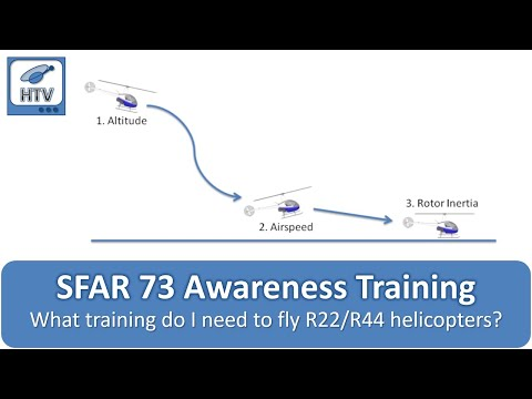 SFAR 73 Awareness Training for Robinson R22 and R44 Helicopters (Updated Version)