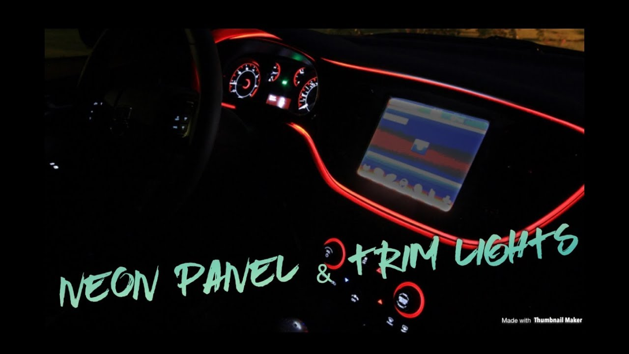 Dodge Charger Rt Panel And Trim Glow Light Use On Any Car