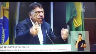 Debate sobre municipalismo: Veja como foi discurso de Patriota na Câmara