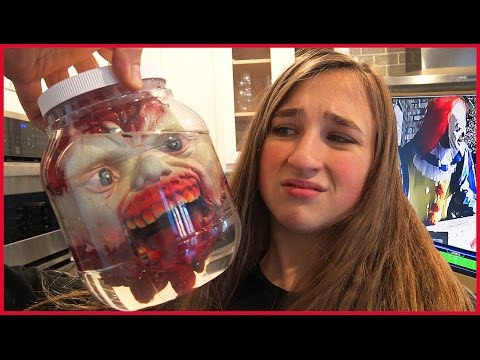 Zombie Head in Jar Prank - Killer Clown Caught Stealing on Camera