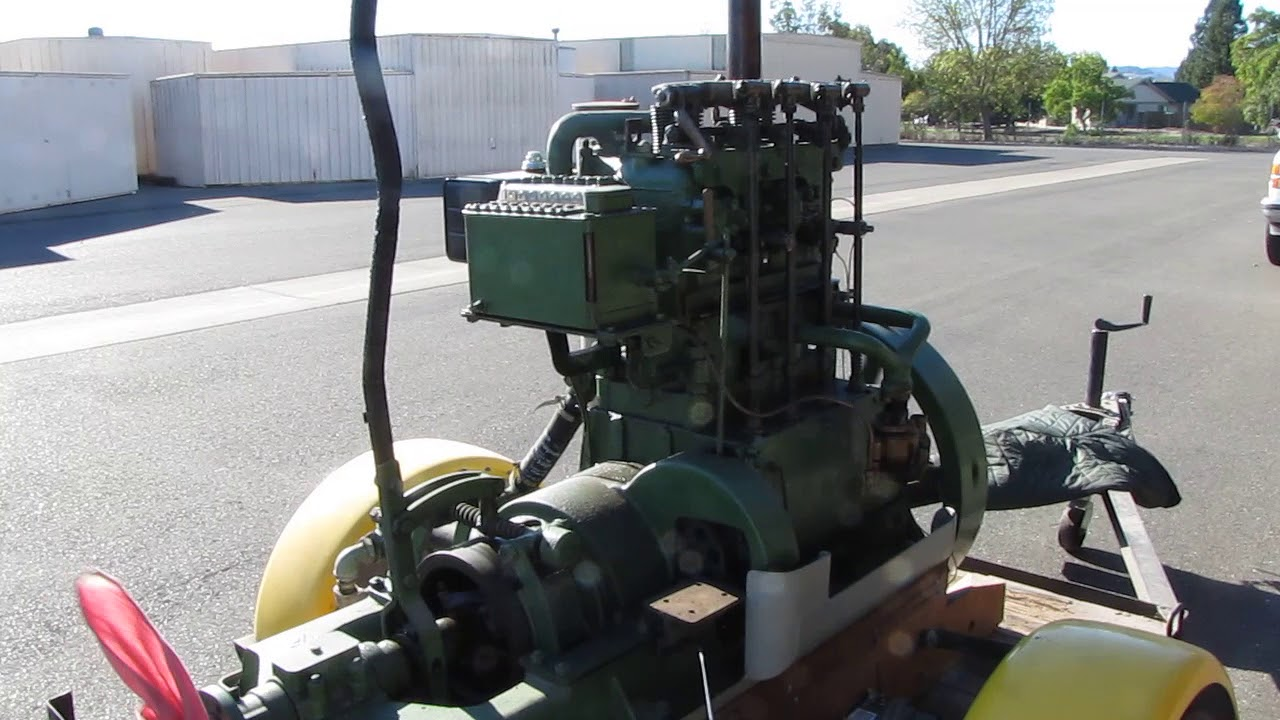 1920 S Hicks Antique Marine Gas Engine