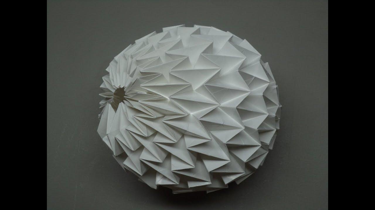 How Fold Origami Magic Ball Youtube