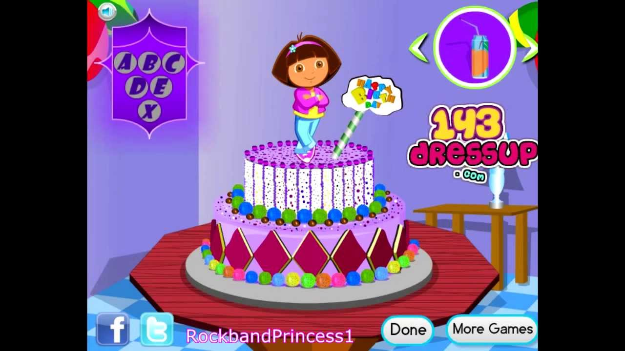 Dora Online Games To Play Free Cooking Decorates Cake Game You